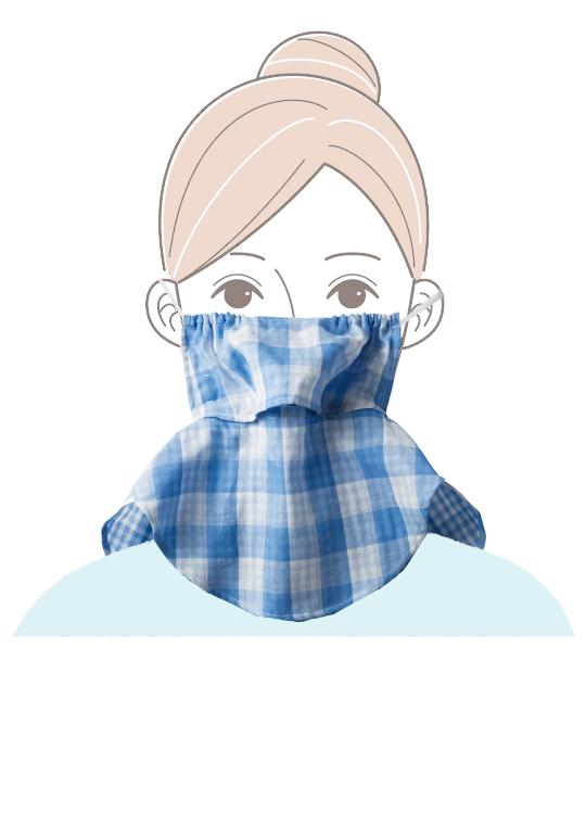 ネックカバー付き農家さんマスク