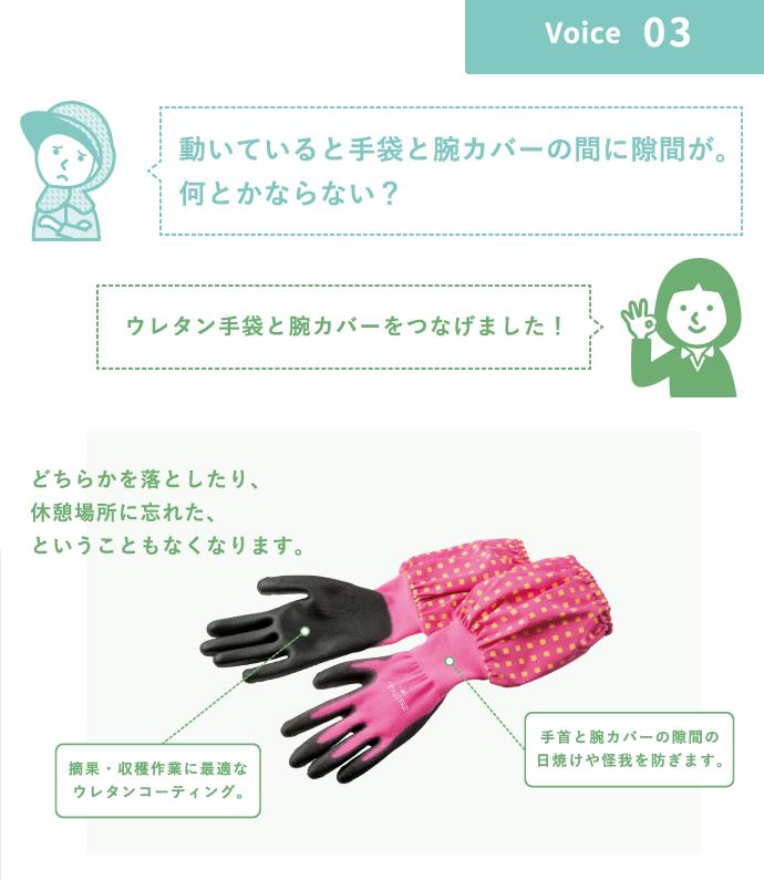 ウレタンコーティング背抜き袖付き手袋
