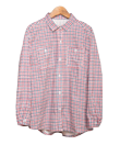 ns540 農家さんシャツ・ギンガムチェックレッド&ネイビー