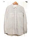 ns540 農家さんシャツ・ギンガムチェックサックス&ブラウン