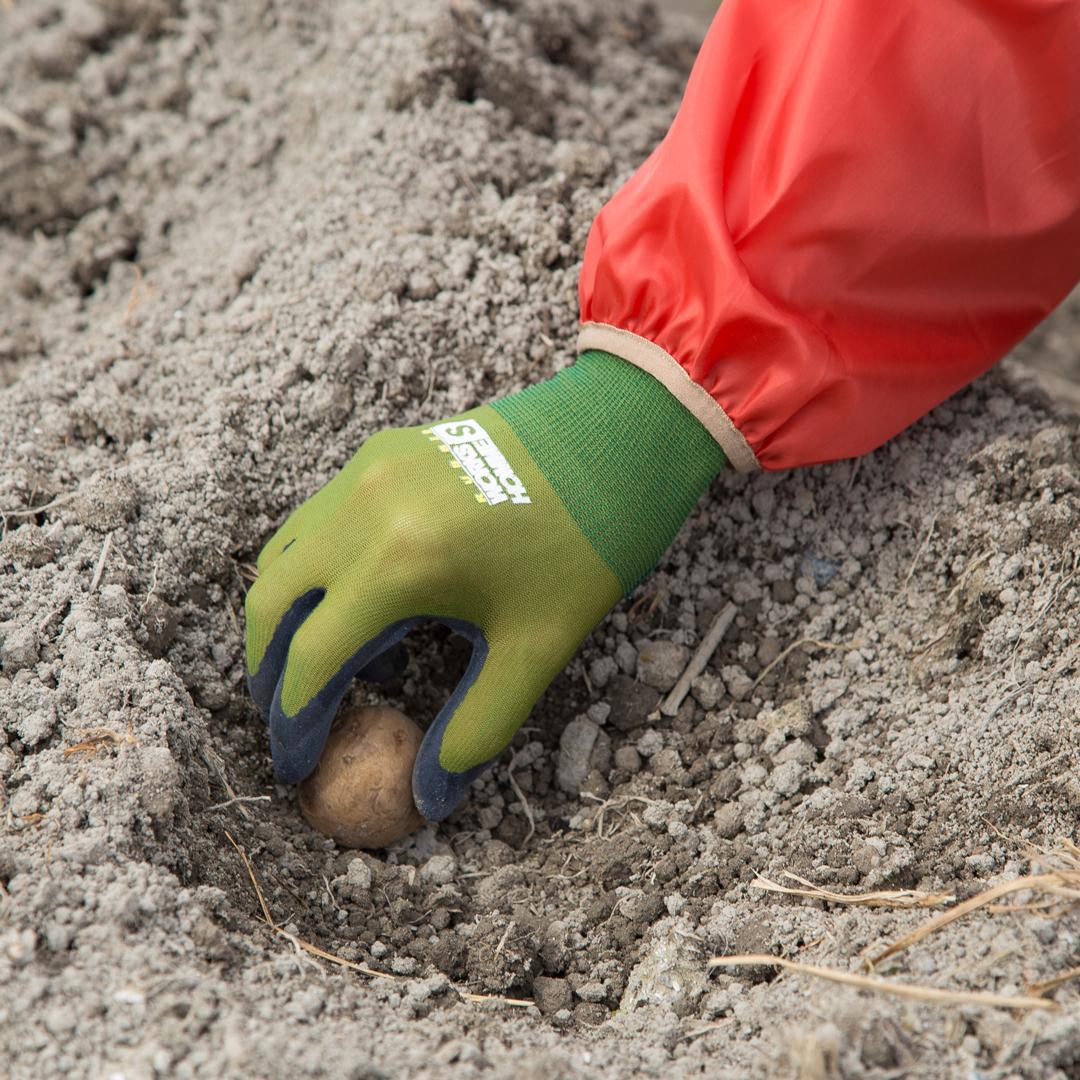 天然ゴムコーティング薄手背抜き手袋